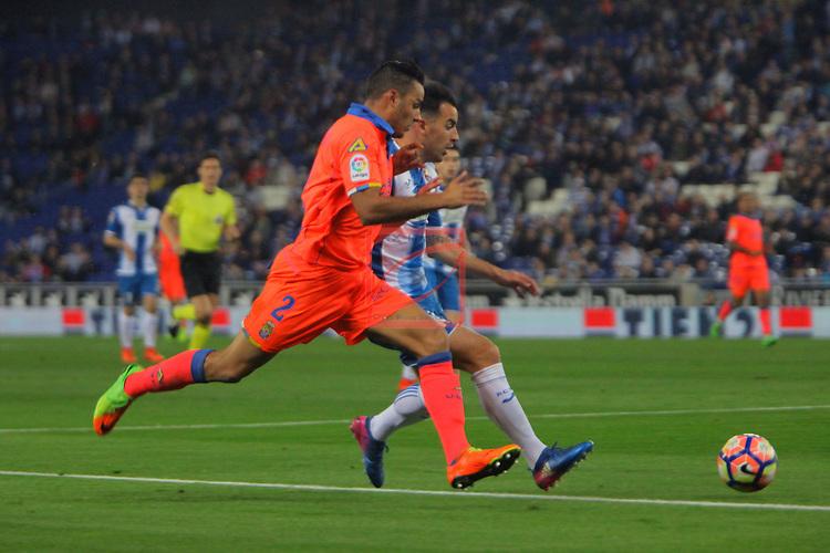 League Santander 2016/2017. Game: 27.<br /> RCD Espanyol vs UD Las Palmas: 4-3.<br /> David Simon vs Jurado.