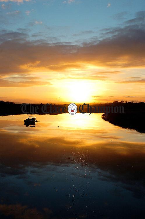 Sunset dromoland interchange.Pic Arthur Ellis.