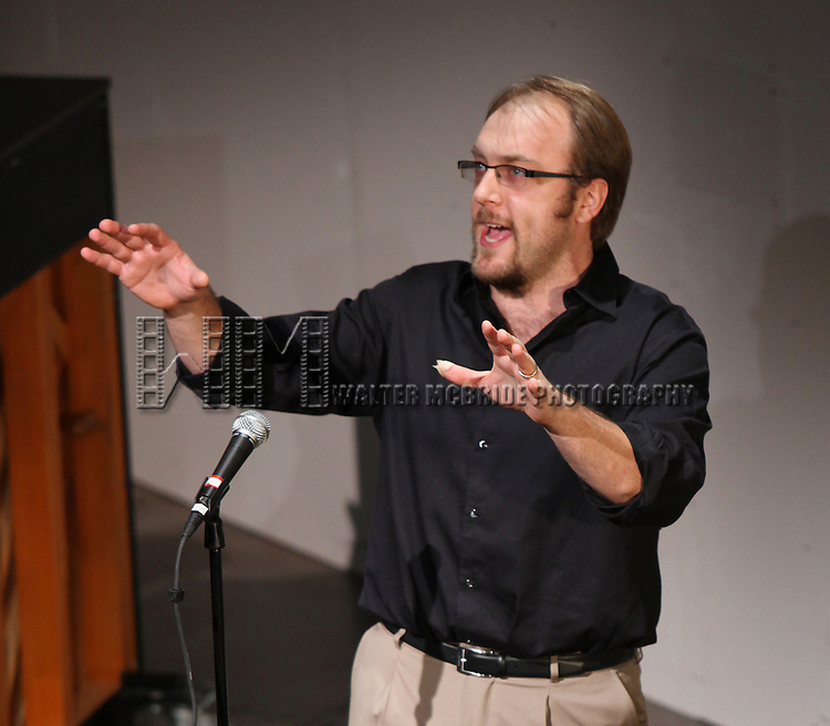 Alexander Gemignani.performing at Transport Group Theatre Company's An Evening with Michael John LaChiusa: Boys Night Out at  Playwrights Horizon in New York City
