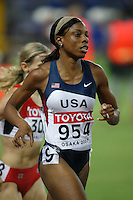 Hazel Clark ran 2:00.61sec. in the 1st. round of the 800m on Saturday, August 25, 2007. Photo by Errol Anderson,The Sporting Image.