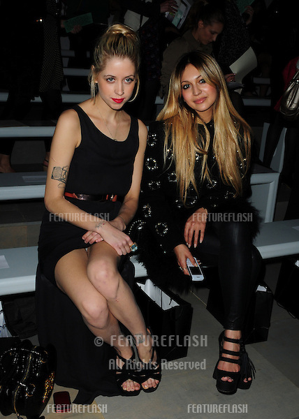 Peaches Geldof and Zara Martin at the Felder and Felder Spring Summer 2012 show at London Fashion Week, London. 16/09/2011 Picture by: Simon Burchell / Featureflash