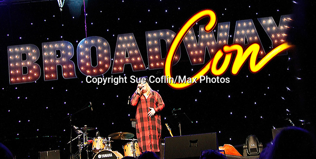 Ryann Redmond sings at the first ever 3-day Broadway Con on January 22 - 24, 2016 at the Hilton Hotel, New York City, New York. (Photo by Sue Coflin/Max Photos)