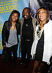 "BEVERLY HILLS, CA. - December 12: Levar Burton (C) daughter Michaela Jean Burton (L) and wife Stephanie Burton (R) attend the ""Family Guy Something, Something, Something, Dark Side"" DVD Release Party at a private residence on December 12, 2009 in Beverly Hills, California."
