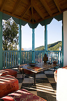 There are views of the mountains from the top floor terrace of the Casita