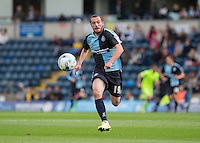 Michael Harriman of Wycombe Wanderers chases down the ball during the Sky Bet League 2 match between Wycombe Wanderers and Hartlepool United at Adams Park, High Wycombe, England on 5 September 2015. Photo by Andy Rowland.
