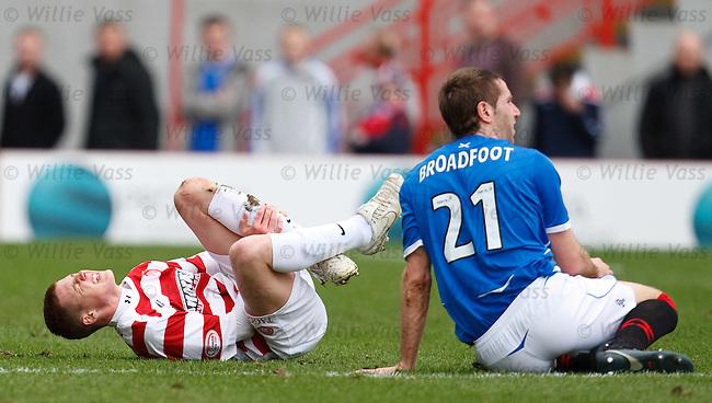 Kirk Broadfoot goes in hard on James McCarthy