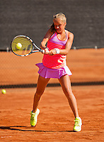 Netherlands, Rotterdam August 07, 2015, Tennis,  National Junior Championships, NJK, TV Victoria,  Margriet Timmermans<br /> Photo: Tennisimages/Henk Koster