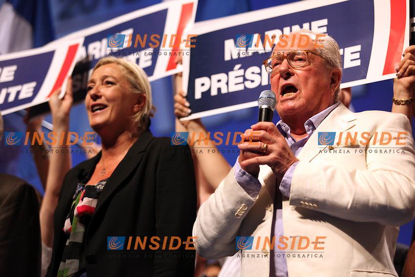 11-09-2011 Marine Le Pen et Jean Marie Le Pen <br /> Foto Panoramic / Insidefoto