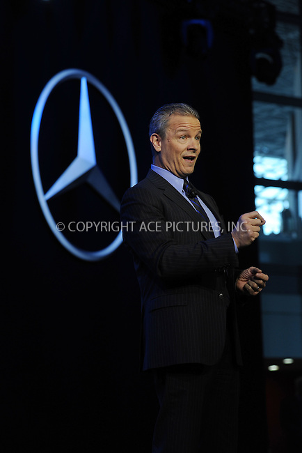 WWW.ACEPIXS.COM<br /> April 1, 2015 New York City<br /> <br /> Stephen Cannon, chief executive officer of Mercedes-Benz USA, unveils the Mercedes-Benz GLE sport-utility vehicle and the revised smart fortwo city car at the New York International Auto Show at the Jacob K. Javits Convention Center on  April 1, 2015 in New York City.<br /> <br /> Please byline: Kristin Callahan/AcePictures<br /> <br /> ACEPIXS.COM<br /> <br /> Tel: (646) 769 0430<br /> e-mail: info@acepixs.com<br /> web: http://www.acepixs.com