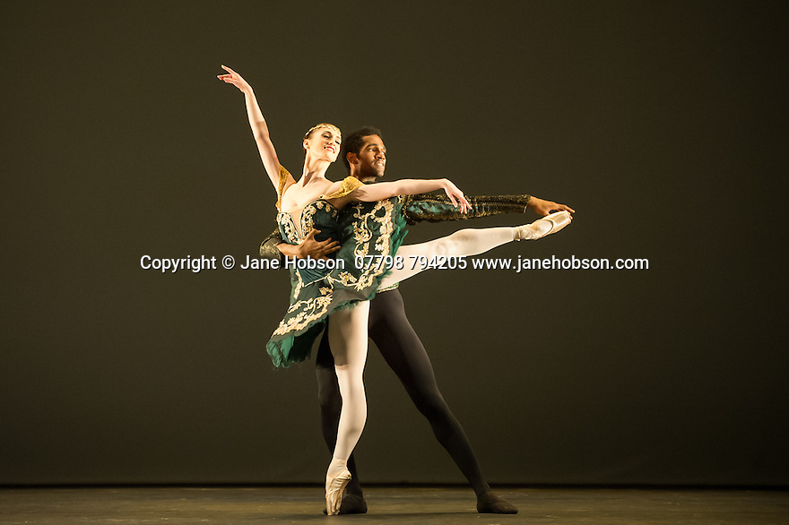 "London, UK. 19.05.2014. English National Ballet presents the final of EMERGING DANCER 2014, at the Lyceum Theatre in London's West End. Picture shows: Alison McWhinney and Junor Souza in ""Esmeralda"". Photograph © Jane Hobson."