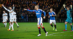 Kenny Miller scores his hat-trick as Dumbarton throw their hands up in the air