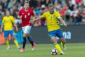 June 1th 2017, Ullevaal Stadion, Oslo, Norway; International Football Friendly 2018 football, Norway versus Sweden;  Sebastian Larsson of Sweden in action