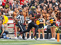 College Park, MD - September 9, 2017: Maryland Terrapins running back Ty Johnson (6) runs the ball during game between Towson and Maryland at  Capital One Field at Maryland Stadium in College Park, MD.  (Photo by Elliott Brown/Media Images International)