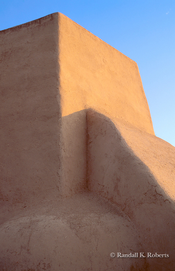 Detail of adobe buttress, San Francisco de Assisi church, Ranchos de Taos, New Mexico