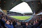 A packed Ibrox Stadium pays its respects to the fallen fans after the minutes silence is over