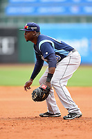 Corpus Christi Hooks first baseman Telvin Nash (23) during a game against the NW Arkansas Naturals on May 26, 2014 at Arvest Ballpark in Springdale, Arkansas.  NW Arkansas defeated Corpus Christi 5-3.  (Mike Janes/Four Seam Images)