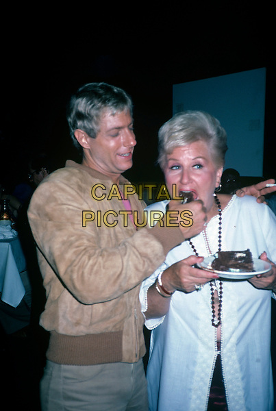 Jack Wrangler and Margaret Whiting at her birthday in June 1981. <br /> CAP/MPI/NBB<br /> &copy;NBB/MPI/Capital Pictures
