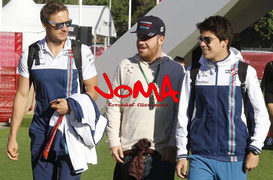 Lance Stroll in Paddock at Spanish Grand Prix . Barcelona-Catalunya track