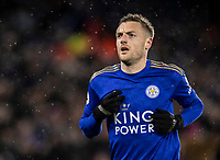 Leicester City's Jamie Vardy celebrates scoring his side's third goal  <br /> <br /> Photographer Andrew Kearns/CameraSport<br /> <br /> The Premier League - Leicester City v Aston Villa - Monday 9th March 2020 - King Power Stadium - Leicester<br /> <br /> World Copyright © 2020 CameraSport. All rights reserved. 43 Linden Ave. Countesthorpe. Leicester. England. LE8 5PG - Tel: +44 (0) 116 277 4147 - admin@camerasport.com - www.camerasport.com