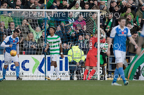 St Johnstone v Celtic&hellip;04.11.17&hellip;  McDiarmid Park&hellip;  SPFL<br />Zander Clark reacts after conceding a third goal<br />Picture by Graeme Hart. <br />Copyright Perthshire Picture Agency<br />Tel: 01738 623350  Mobile: 07990 594431