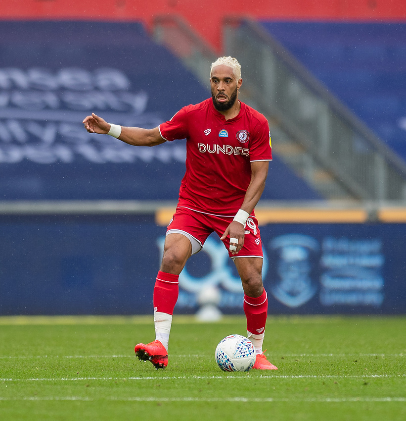 Bristol City's Ashley Williams  <br /> <br /> Photographer David Horton/CameraSport<br /> <br /> The EFL Sky Bet Championship - Swansea City v Bristol City- Saturday 18th July 2020 - Liberty Stadium - Swansea<br /> <br /> World Copyright © 2019 CameraSport. All rights reserved. 43 Linden Ave. Countesthorpe. Leicester. England. LE8 5PG - Tel: +44 (0) 116 277 4147 - admin@camerasport.com - www.camerasport.com