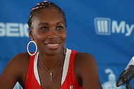 July 8, 2013  (Washington, DC)  Former Wimbledon winner Venus Williams during a news conference for the Washington Kastles home opener July 8, 2013.  Williams played during the teams 2012 winning season. (Photo by Don Baxter/Media Images International)