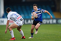 Max Green of Bath United goes on the attack. Premiership Rugby Shield match, between Bath United and Gloucester United on April 8, 2019 at the Recreation Ground in Bath, England. Photo by: Patrick Khachfe / Onside Images