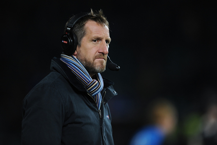 Will Greenwood, Sky Sports pundit, during the Quilter International match between England and Australia at Twickenham Stadium on Saturday 24th November 2018 (Photo by Rob Munro/Stewart Communications)