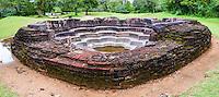 Ancient City of Polonnaruwa, panoramic photo of Lotus Pond (Nelum Pokuna), UNESCO World Heritage Site, Sri Lanka, Asia. This is a panoramic photo of Lotus Pond (Nelum Pokuna),  in the Ancient City of Polonnaruwa, a UNESCO World Heritage Site, Sri Lanka, Asia.