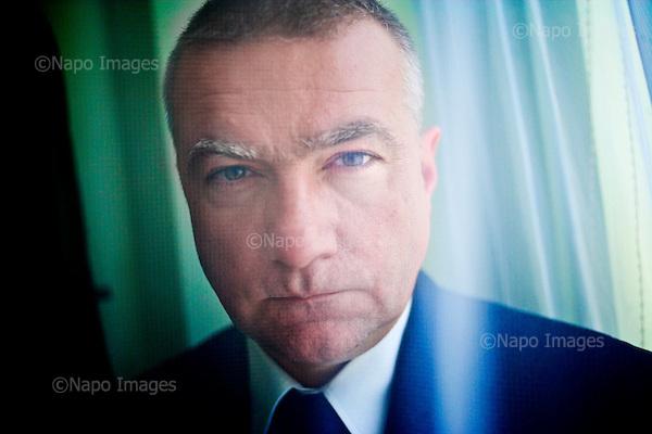 Warsaw 28.10.2010 Poland<br /> Member of parliament and member of the PO party ( liberal fraction ) minister Pawel Gras.<br /> Photo: Adam Lach / Newsweek Polska / Napo Images<br /> <br /> Posel Pawel Gras.<br /> Fot: Adam Lach / Newsweek Polska / Napo Images<br /> <br /> !!!!UWAGA RESTRYKCJE!!!!!<br /> Zdjecie moze byc uzyte w prasie gdy sposob jego wykorzystania oraz podpis nie obrazaja osob znajdujacych sie na fotografii!!!