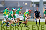Jack Goulding Ballyduff in action against Jeremy McKenna Lixnaw in the Senior County Hurling Final in Austin Stack Park on Sunday