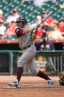 Nick Fleece #24 of the Texas A&M Aggies follows through on his swing versus the UC-Irvine Anteaters in the 2009 Houston College Classic at Minute Maid Park February 27, 2009 in Houston, TX.  The Aggies defeated the Anteaters 9-2. (Photo by Brian Westerholt / Four Seam Images)