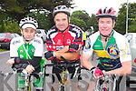 Trix Schwedler (Ballybunion), Ger Halloran (Tralee) and Michael O'Connell who took part in the Ring of North Kerry cycle on Saturday..