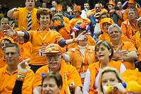 06-04-13, Tennis, Rumania, Brasov, Daviscup, Rumania-Netherlands,Dutch supporters