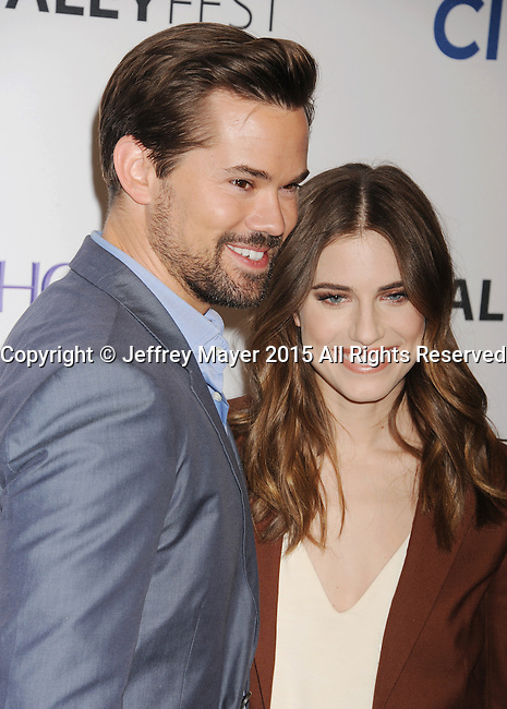 HOLLYWOOD, CA - MARCH 08: Actress Allison Williams (R) and Andrew Rannells attend The Paley Center For Media's 32nd Annual PALEYFEST LA - 'Girls' at Dolby Theatre on March 8, 2015 in Hollywood, California.