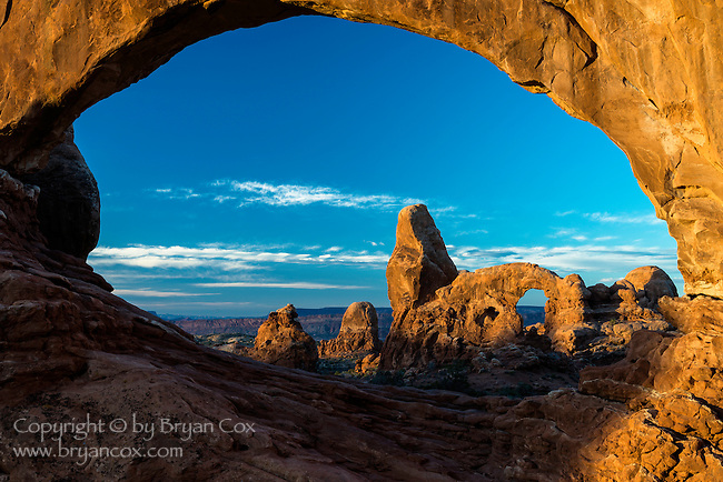 Turret Arch, through North Window, Arches National Park