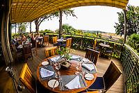 Indochine Restaurant, Delaire Graff Wine Estate, atop Helshoogte Pass, near Stellenbosch, Cape Winelands (near Cape Town), South Africa.