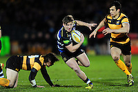 Chay Smith of Bath United goes on the attack. Aviva A-League match, between Bath United and Wasps A on December 28, 2016 at the Recreation Ground in Bath, England. Photo by: Patrick Khachfe / Onside Images