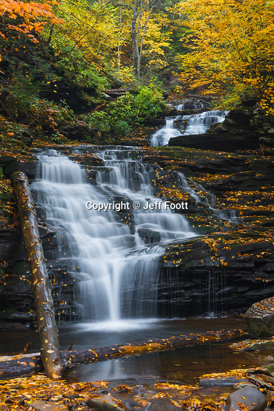 Mokican Falls on Kitchen Creek, Ricketts Glen State Park,  Pennsylvania.
