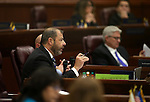 Nevada Assembly Majority Leader Paul Anderson, R-Las Vegas, works on the Assembly floor at the Legislative Building in Carson City, Nev., on Friday, Dec. 18, 2015. Lawmakers are working in a special Legislative session to consider an economic development deal between the state and Faraday Future. <br /> Photo by Cathleen Allison