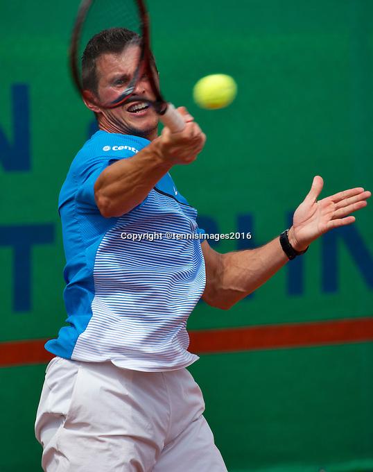 Simpeled, Netherlands, 19 June, 2016, Tennis, Playoffs Eredivisie Men, Steffan Fransen Team Nieuwekerk<br /> Photo: Henk Koster/tennisimages.com