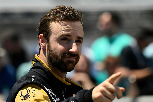 Verizon IndyCar Series<br /> Indianapolis 500 Carb Day<br /> Indianapolis Motor Speedway, Indianapolis, IN USA<br /> Friday 26 May 2017<br /> James Hinchcliffe, Schmidt Peterson Motorsports Honda during the pit stop competition<br /> World Copyright: Scott R LePage<br /> LAT Images<br /> ref: Digital Image lepage-170526-indy-9339