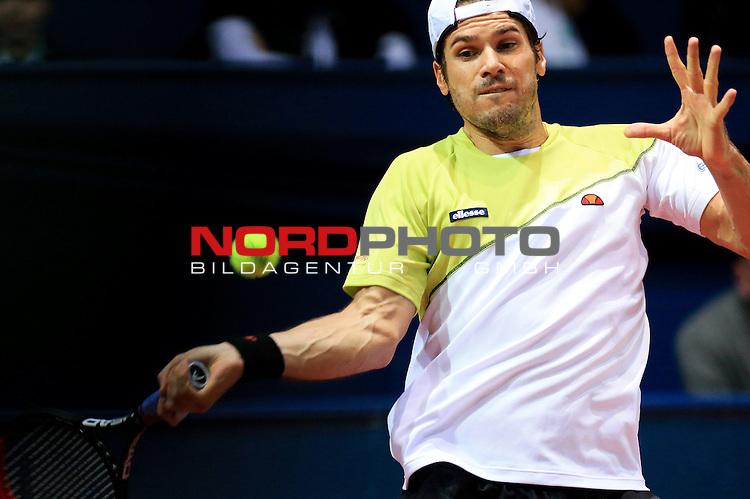 06.02.2014., Zagreb, Croatia -  9. ATP World Tour, PBZ Zagreb Indoors, 2nd round, Tommy Haas (GER) - Benjamin Becker (GER). <br />                                                                                                    Foto &copy;  nph / PIXSELL / Slavko Midzor