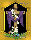 Randy, EASTER RELIGIOUS, OSTERN RELIGIÖS, PASCUA RELIGIOSA, paintings+++++Draped-Cross-with-Gold-Frame,USRW60,#ER#