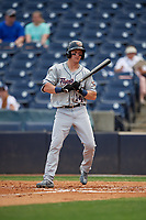 Lakeland Flying Tigers Brock Deatherage (14) at bat during a Florida State League game against the Tampa Tarpons on April 7, 2019 at George M. Steinbrenner Field in Tampa, Florida.  Tampa defeated Lakeland 3-2.  (Mike Janes/Four Seam Images)