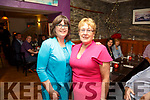 Mary O'Shea on the right at her retirement party from the Cahersiveen Credit Union in Camos Restaurant in Cahersiveen with CCU Branch Manager Elma Shine.