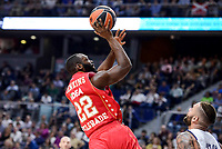 Crvena Zvezda Mts Belgrade's Charles Jenkins during Turkish Airlines Euroleague match between Real Madrid and Crvena Zvezda Mts Belgrade at Wizink Center in Madrid, Spain. March 10, 2017. (ALTERPHOTOS/BorjaB.Hojas) /NortePhoto.com