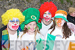 CLOWNING AROUND: Eamon Looney, Christine McKenna, Joe Kelleher and Naomi Farrell clowning around in the St. Patricks Day Parade in Killarney on Saturday..