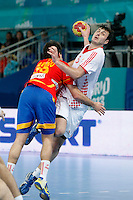 Spain and Croatia during 23rd Men's Handball World Championship preliminary round match, in the pic: Domagoj Duvnjak. January 19 ,2013. (ALTERPHOTOS/Caro Marin) /NortePhoto