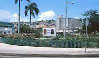 Street corner  in Port-Au-Prince, Haiti, 1981.  (Photo by Edward Cleary/www.bcpix.com)